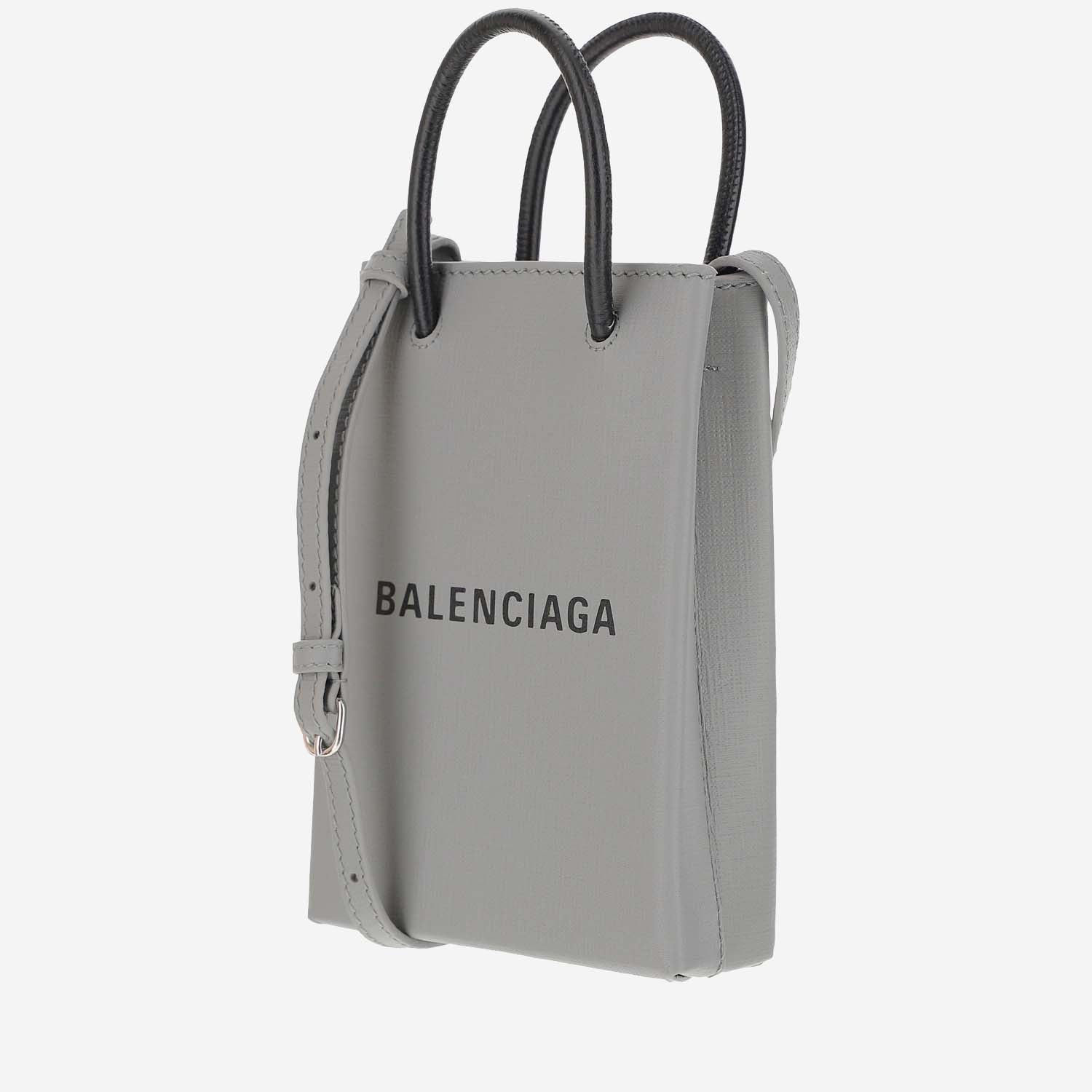 De Verdad Bungalow Por qué no  BALENCIAGA PHONE HOLDER SHOPPING BAG Spring Summer 2021 | binisilvia.com